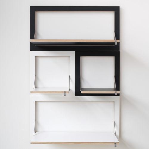 système d'étagères mural / contemporain / en bois / résidentiel