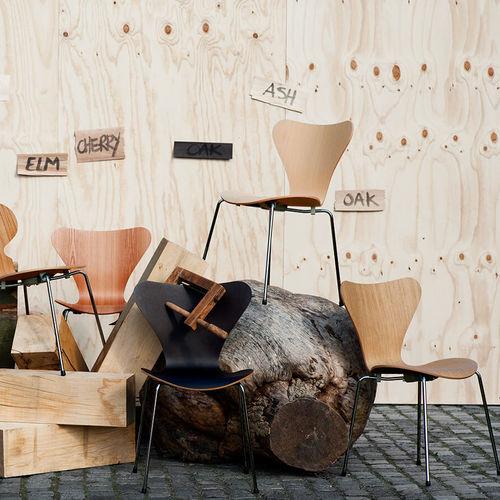 Chaise design scandinave / pour enfant / en chêne / en acier chromé SERIES 7™ Fritz Hansen