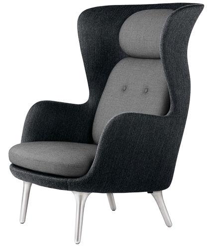 Fauteuil contemporain / en tissu / en cuir / en aluminium RO™ Fritz Hansen
