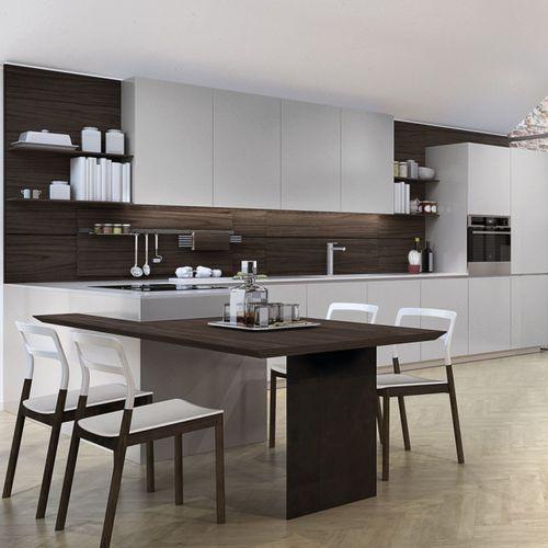 cuisine contemporaine / en verre / en inox / en aluminium