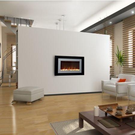 cheminée électrique / contemporaine / à foyer fermé / murale