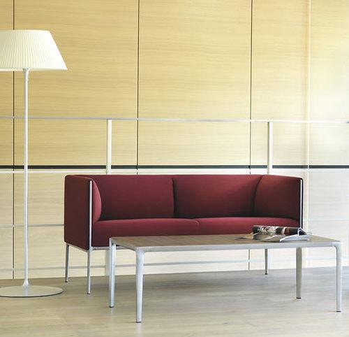 Canapé contemporain / en tissu / en cuir / en aluminium ASIENTA by Jehs+Laub Wilkhahn