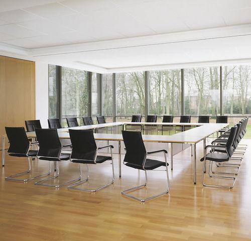 table de conférence contemporaine / en stratifié / en linoléum / rectangulaire