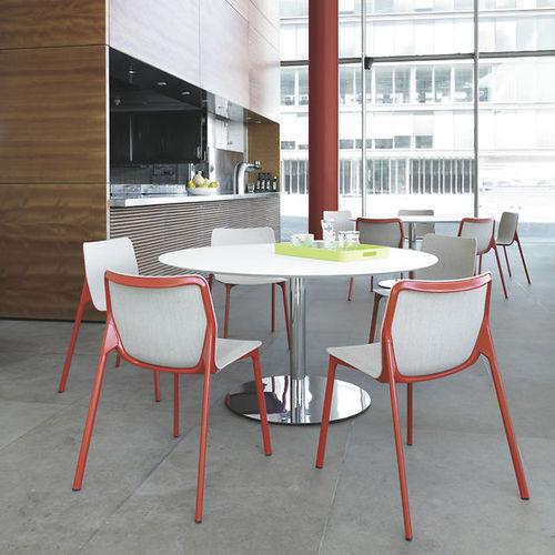 table bistrot contemporaine / en HPL / ronde / carrée