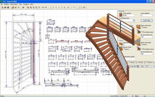 Logiciel 3d cao 2d pour escalier powerstairs ddx technologic