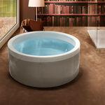 baignoire à poser / ronde / en acrylique / hydromassage