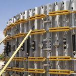 coffrage modulaire / circulaire / en acier galvanisé / pour mur