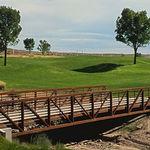 pont à treillis / en acier / piétonnièr