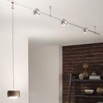 éclairage sur rail à LED / courbé / en métal / en verre