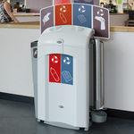 poubelle publique / en plastique recyclé / pour espace public / contemporaine