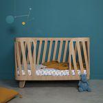 lit simple / contemporain / pour bébé / en chêne