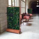 tableau végétal en mousse boule / naturel / en lichen / d'intérieur