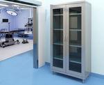 armoire modulable / contemporaine / en acier / à porte battante