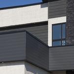 bardage en aluminium / lisse / en lames / aspect bois