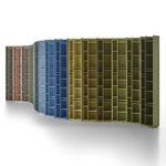 bibliothèque modulable / contemporaine / professionnelle / en MDF laqué