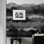 papier peint design original / monochrome / noir / non tissé