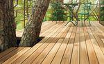 lame de terrasse en teck / aspect bois