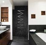 sèche-serviettes à eau chaude / en acier / contemporain