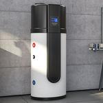 chauffe-eau solaire / à poser / vertical / avec pompe à chaleur