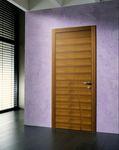 porte d'intérieur / va-et-vient / en bois / affleurante