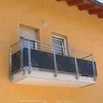 balcon à panneaux / à barreaux / en acier inox