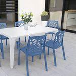 chaise contemporaine / en polypropylène / avec accoudoirs / empilable