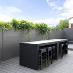 clôture de jardin / à lames / en aluminium / modulaire