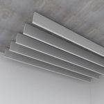 baffle acoustique en acier / suspendu / rectangulaire / décoratif