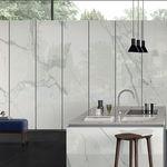 plaque de pierre en grès cérame / pour sol / pour agencement intérieur / pour façade