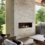 brique pleine / pour mur intérieur / blanche / à relief