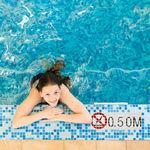 mosaïque de piscine / au sol / en verre / à motif
