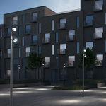 lampadaire urbain / contemporain / en fonte d'aluminium / en verre