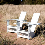 chaise contemporaine / adirondack / en polyéthylène / d'extérieur
