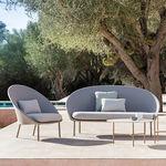 canapé contemporain / de jardin / en aluminium / en tissu