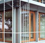 Baie vitrée coulissante / en bois / à double vitrage / de sécurité GERMAN EMBASSY Accsys Technologies