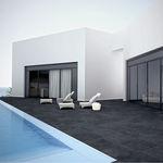 carrelage pour plage de piscine / de sol / en grès cérame / uni