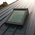 fenêtre de toit à projection / en métal / à double vitrage