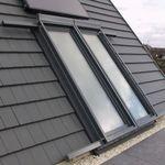 fenêtre de toit à projection / coulissante / en métal / à double vitrage