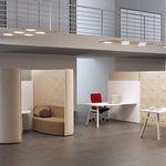 panneau d'absorption acoustique pour mur intérieur / en bois / en tissu / pour bureau