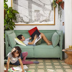 Canapé contemporain / en tissu / par Ronan & Erwan Bouroullec / 2 places ALCOVE PLUME   vitra