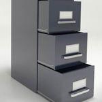 armoire de classement haute / en acier / avec porte coulissante / à tiroirs