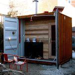 sauna résidentiel / en bois / pour extérieur