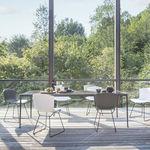 chaise contemporaine / tapissée / luge / avec coussin amovible