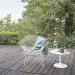fauteuil contemporain / en acier / luge / avec coussin amovible