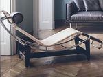 Chaise longue contemporaine / en acier / en cuir / d'intérieur LC4 CP Cassina