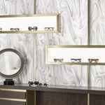 panneau composite en Corian® / pour agencement intérieur / blanc / translucide