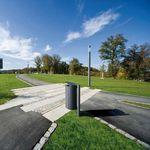 Poubelle publique / en acier galvanisé / contemporaine CARPO Hess GmbH Licht + Form