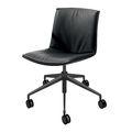 Chaise de bureau contemporaine / en tissu / en cuir / à roulettes