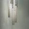 Lustre contemporain / en cristal / halogène / fait main VOILE Manooi