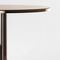 table bistrot contemporaine / en marbre / en acier / ronde